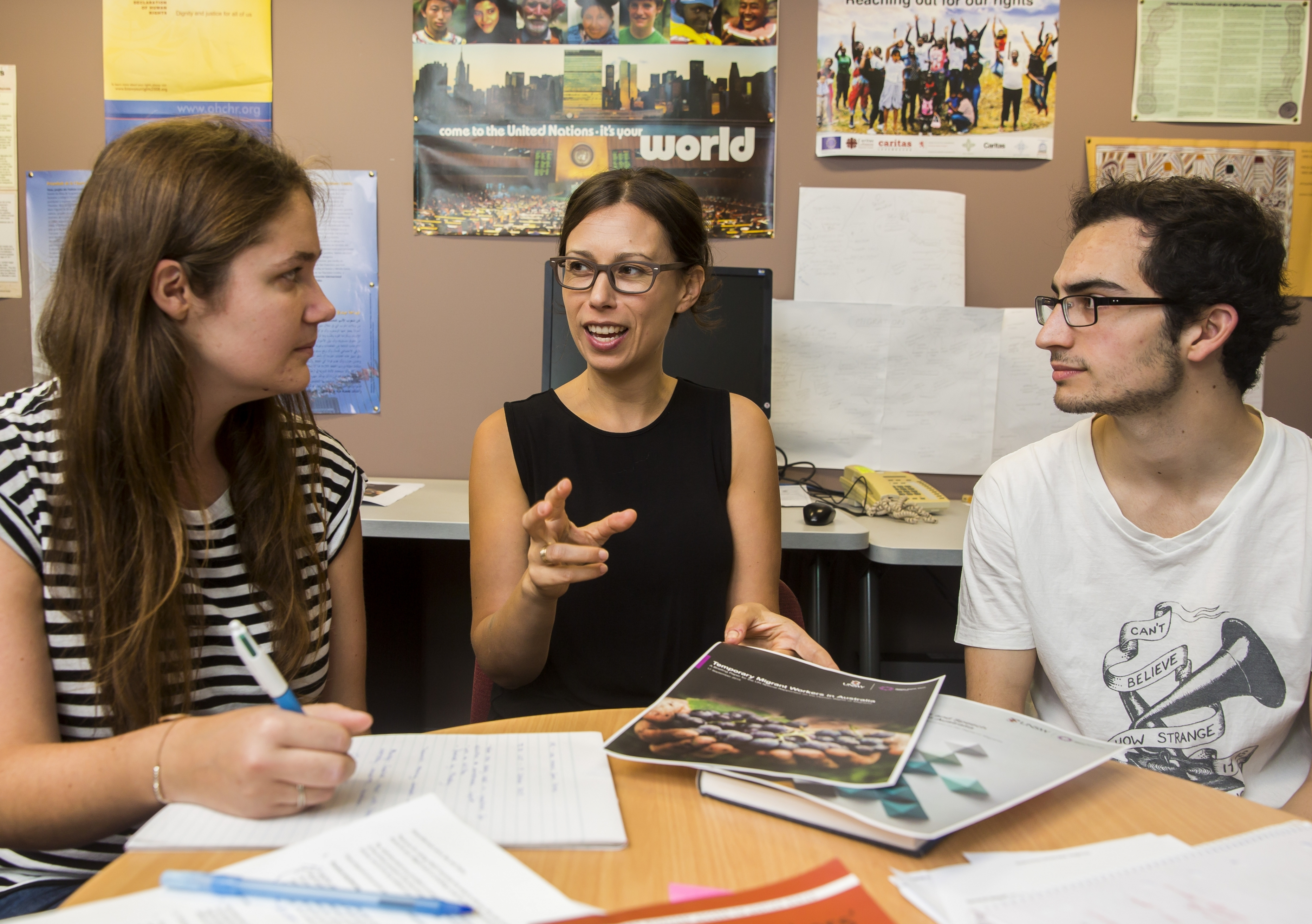 Students from UNSW Law's Human Rights Clinic.