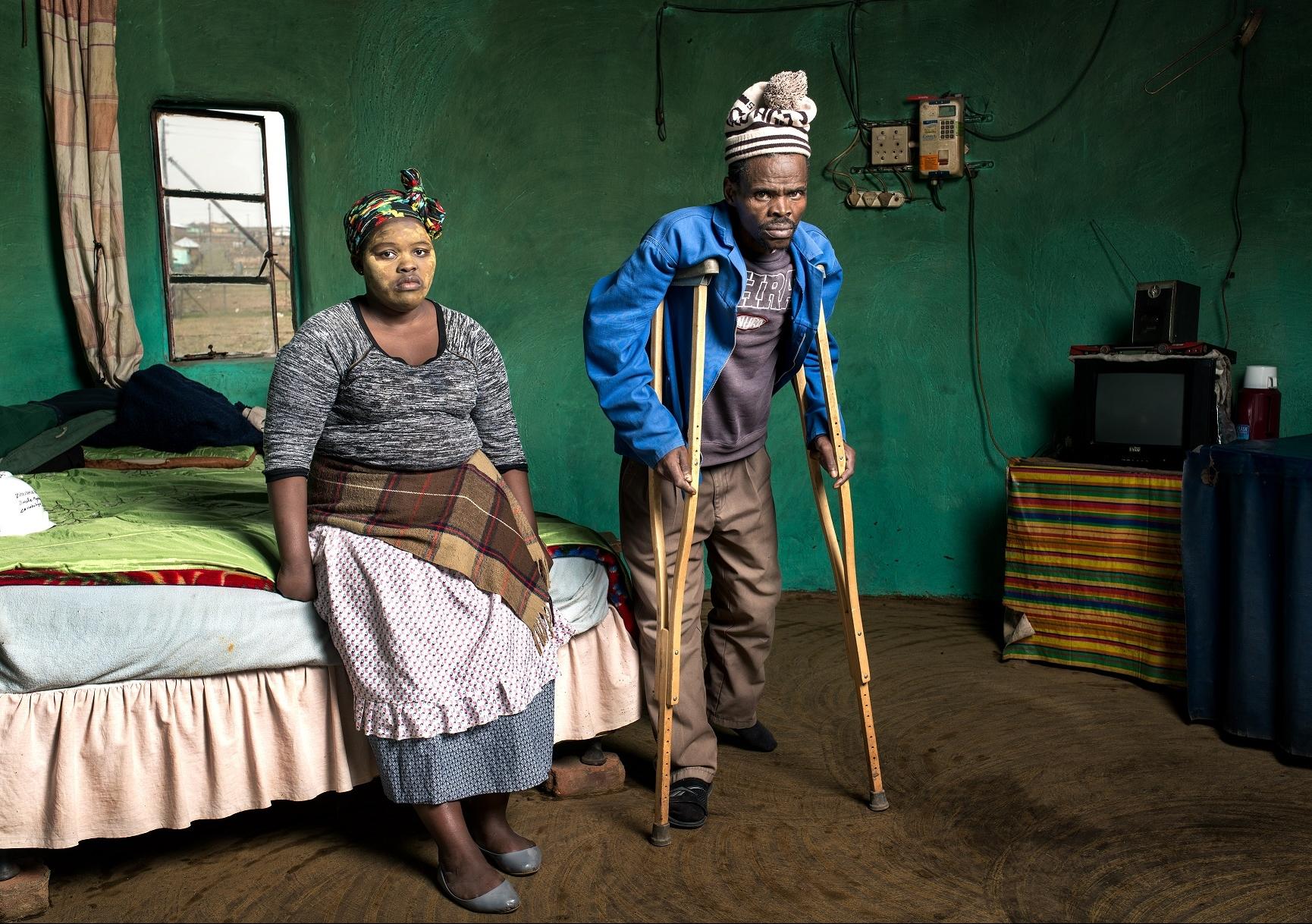 Patrick Sitwayi and Asive Bingwa, 2015. Photo: Thom Pierce