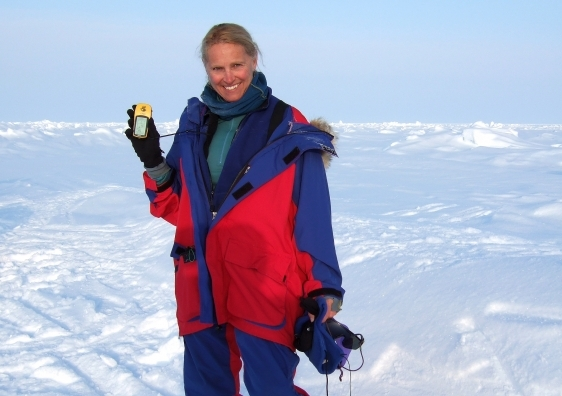 Rosemary Rayfuse, pictured at the North Pole, has been appointed the new Kerstin Hesselgrens Visiting Professor.