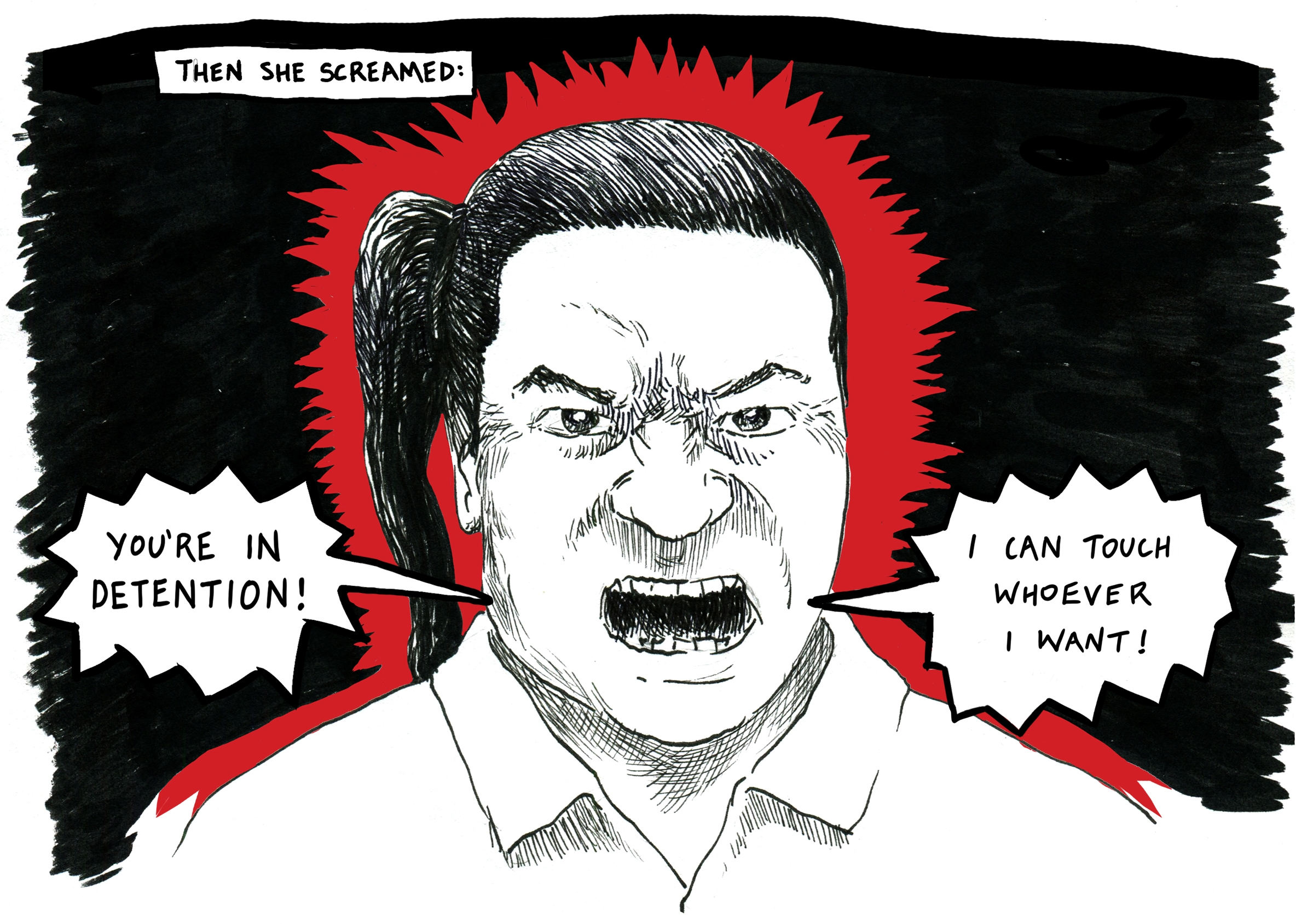 An image from Safdar Ahmed's graphic novel Villawood: Notes from an immigration detention centre. Image: Safdar Ahmed