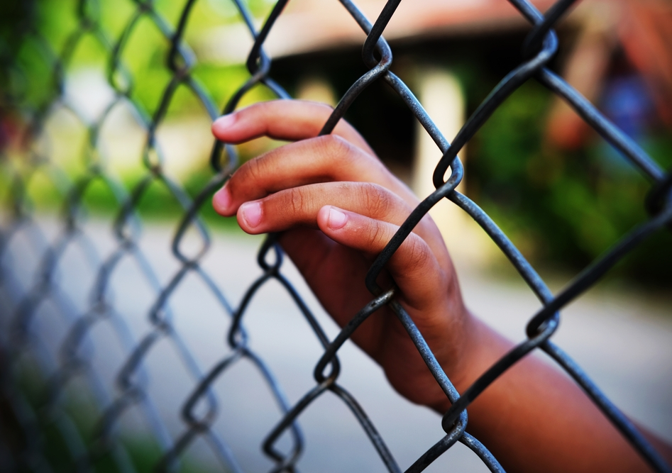 Vulnerable children caught up in the criminal justice system can suffer long-lasting consequences, even from a short period behind bars. Image from Shutterstock