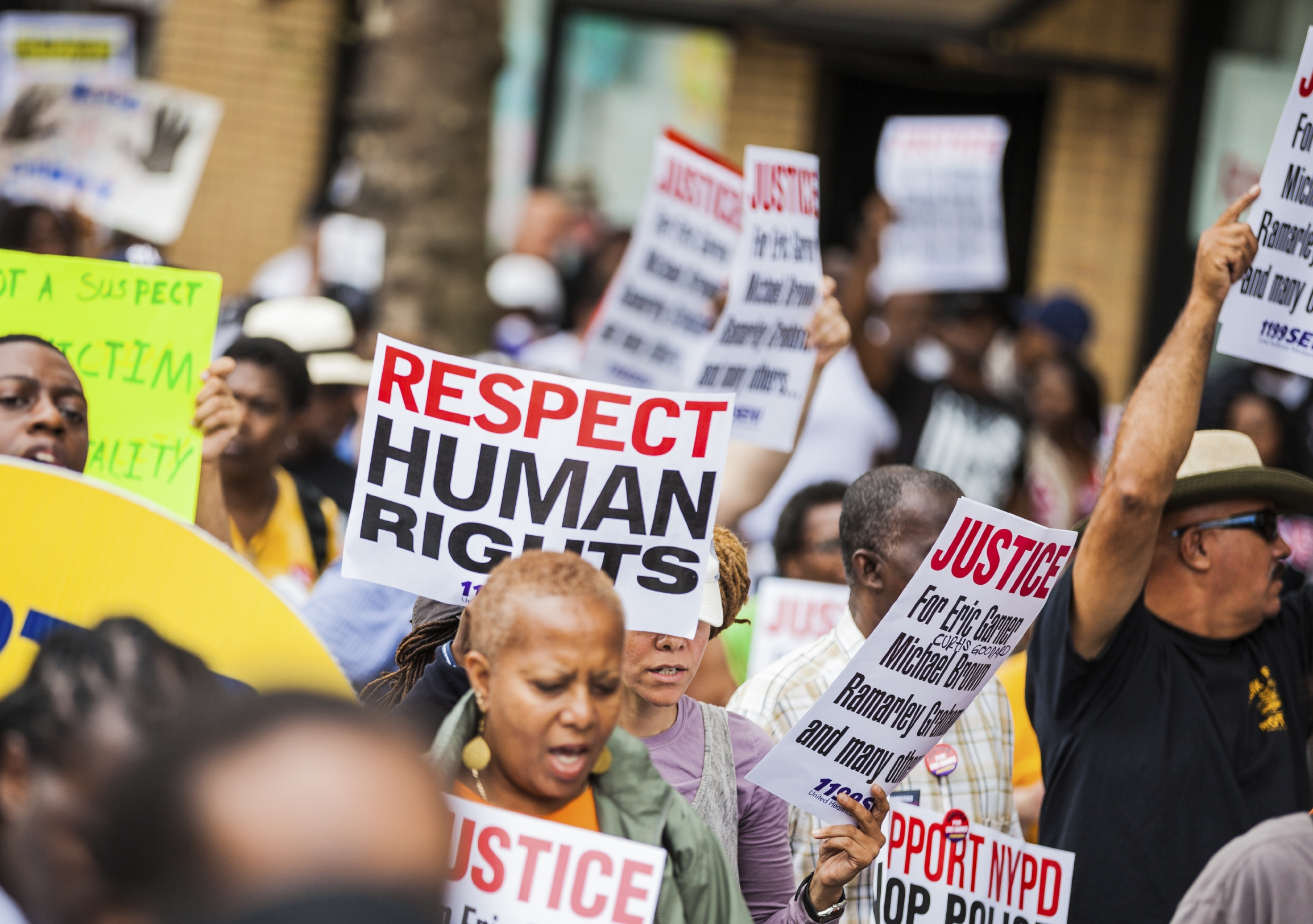 Protest against NYPD invoking the United States Bill of Rights Image: iStock
