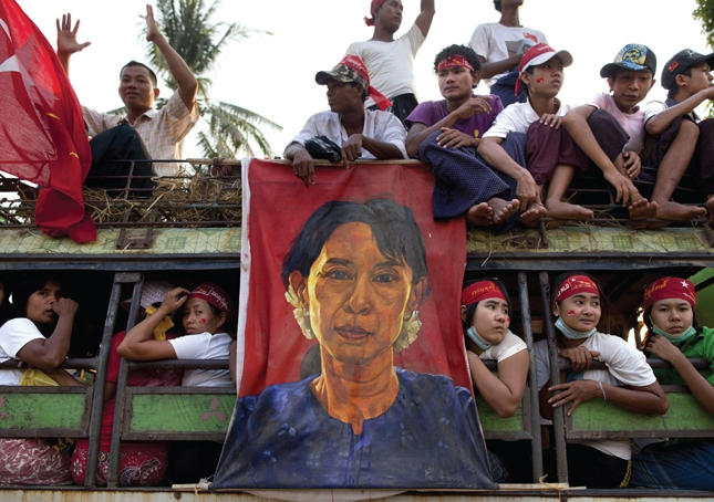 Australia's aid and trade interests in Myanmar continue to grow following last year's election win by the National League for Democracy led by Nobel Peace Laureate Aung San Suu Kyi. Photo: the cover image of Law, Society and Transition in Myanmar, edited by Crouch and Tim Lindsey.