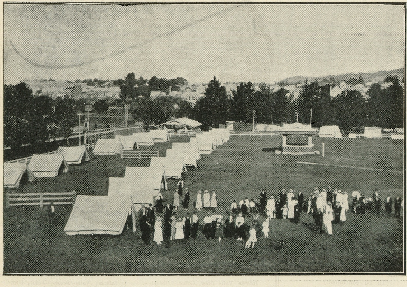 """'The Quarantine Camp for """"Repatriating"""" Marooned Queenslanders, Tenterfield Show Ground'. Page 28 of The Queenslander Pictorial, supplement to The Queenslander, 22 February 1919. Photo: John Oxley Library, State Library of Queensland."""
