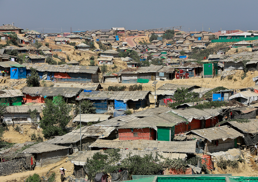 A refugee camp in Bangladesh for Rohingya who have fled persecution in neighbouring Myanmar. Image: Shutterstock.