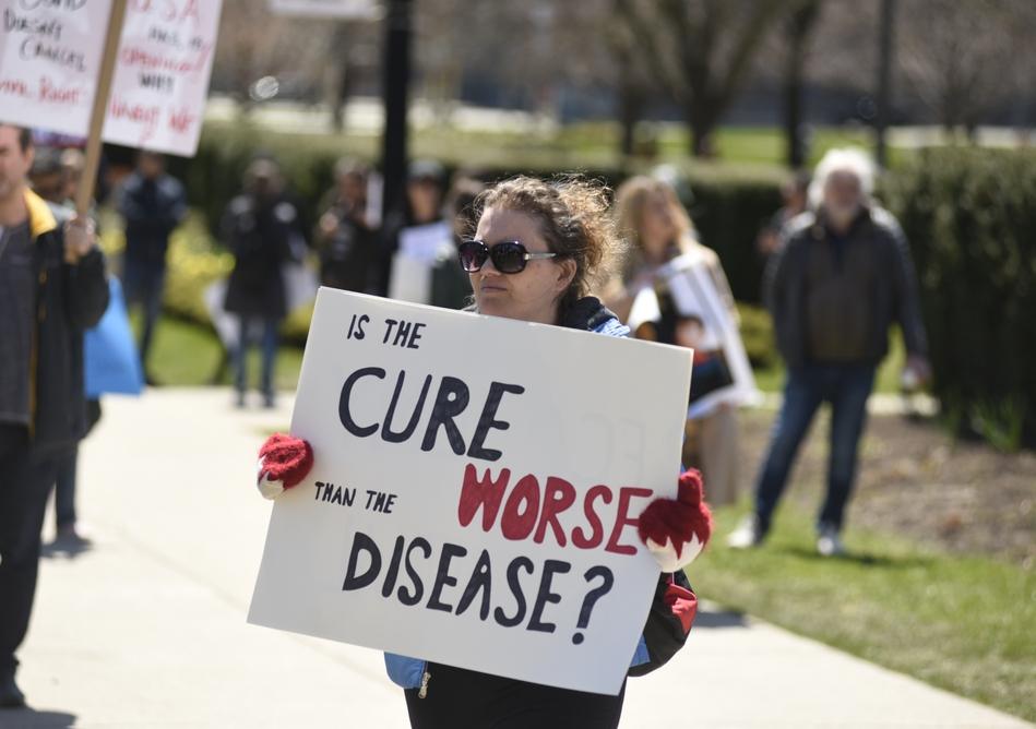 COVID anti-vaccination demonstration