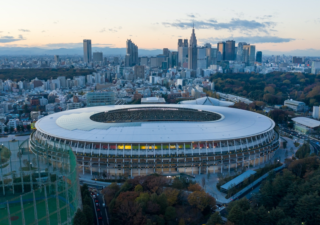 The recently constructed Japan National Stadium will serve as the main stadium for the Tokyo 2020 Olympic Games. Photo: Tomacrosse / Shutterstock.com.