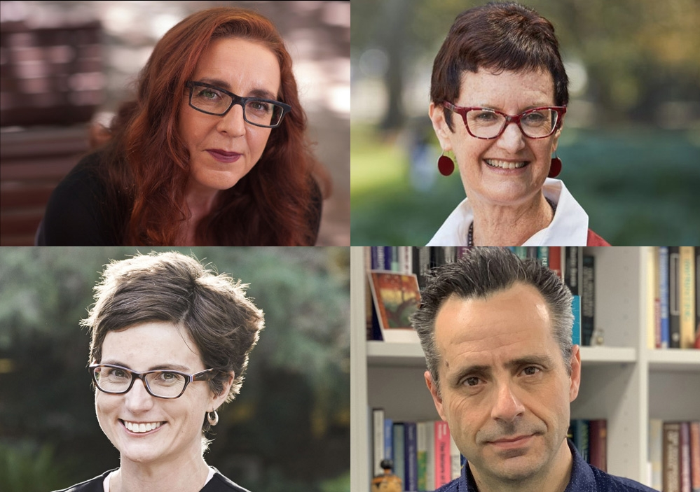 The latest group of UNSW Academics named Fellows of the Academy for the Social Sciences in Australia. Clockwise from top left: Professor Carla Treloar, UNSw Arts & Social Sciences; Professor Julie Stubbs, UNSW Law; Professor Rosalind Dixon, UNSW Law; Professor Gavan McNally, UNSW Science.