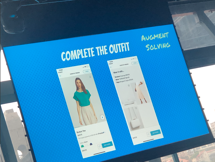 Kshira Saagar, Head of Data Science and Analytics at The ICONIC, presenting the 'complete the outfit' function at UNSW Business School's 2020 Marketing Analytics Symposium.